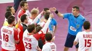 Redebedarf: Polens Handball-Spieler hadern mit dem serbischen Schiedsrichter