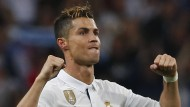 Nicht zu stoppen von Atlético: Cristiano Ronaldo erzielt drei Tore.