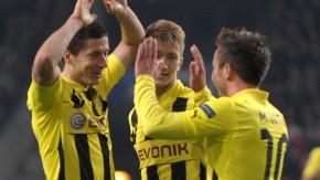 Dortmunder Offensivkraft: Lewandowski, Reus und Götze