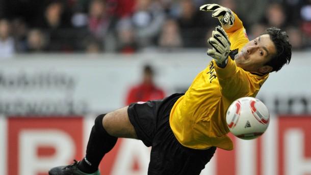 Fußball-Bundesliga - Eintracht Frankfurt gegen Hoffenheim in der Frankfurter WM-Arena.