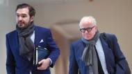 Wie lange sind sie beim DFB noch zu halten? Fritz Keller (r) und Friedrich Curtius.