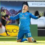 Zum Verzweifeln: Mainz-Schlussmann Robin Zentner beim Spiel gegen Leipzig