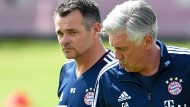 Interimstrainer: Willy Sagnol (l.) ersetzt am Sonntag Carlo Ancelotti