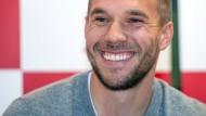 Lukas Podolski lächelt in Zukunft in der Türkei.