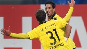 Götze und Barrios schießen Dortmund auf Platz eins