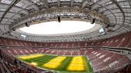 Im Luschniki-Stadion in Moskau findet am 15. Juli 2018 das Finale der Fußball-WM statt.