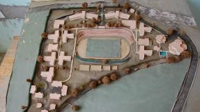 Der Sport als Mittelpunkt: Ein Modell zeigt, wie das Areal einmal aussehen soll