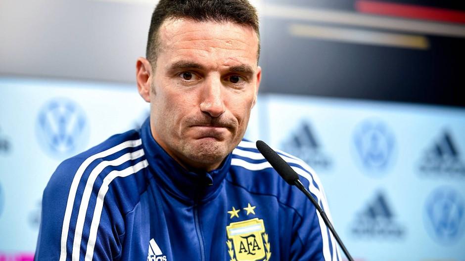 Kein Selbstläufer: Argentiniens Nationalcoach Lionel Scaloni will Deutschland besiegen.