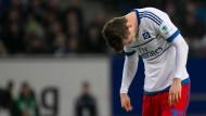 Niedergeschlagen: Hamburgs Gregoritsch ist fassungslos