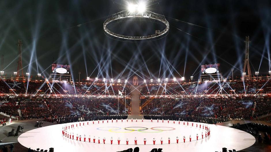 Eröffnungsfeier der Winterspiele von Pyeongchang 2018: Russische Hacker störten das Internet.