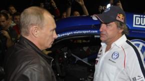 Interessierter Zuhörer: der russische Regierungschef Wladimir Putin (l.)
