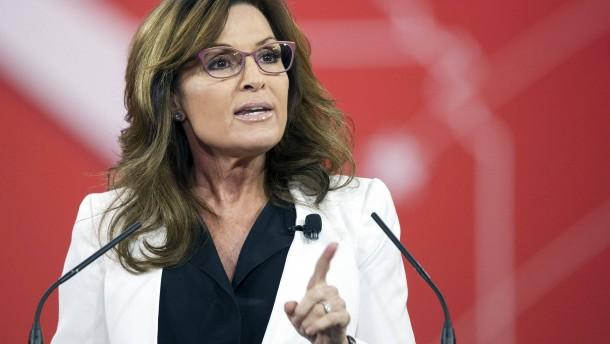 Sarah Palin macht Werbung für Donald Trump