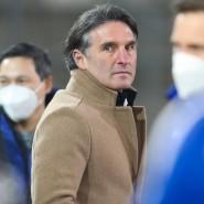 Kein Sieg bei der Arminia: Hertha-Trainer Bruno Labbadia