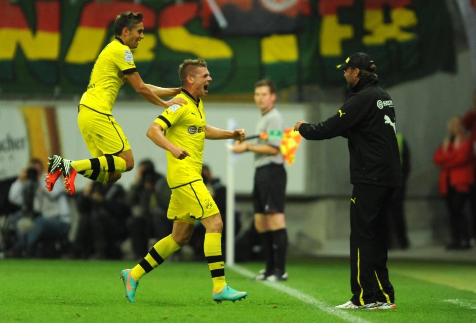 Fliegende Borussen: Die Dortmunder legten furios los und führten mit 2:0