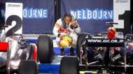 Kleiner Unterschied, große Wirkung: Lewis Hamilton schaut in Melbourne genau hin