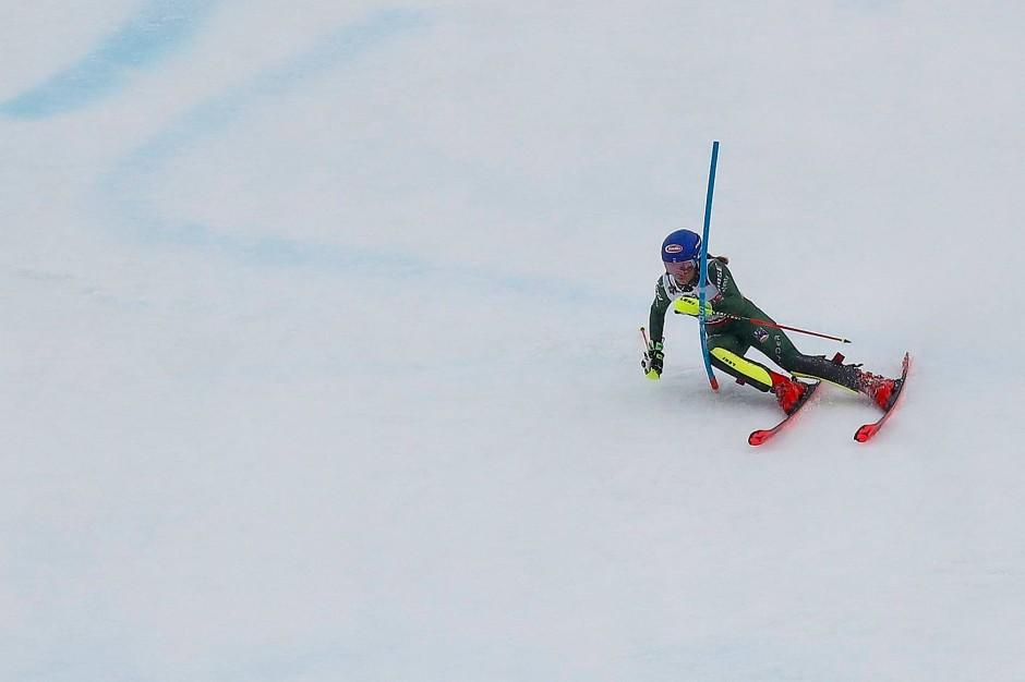 Mikaela Shiffrin findet zumeist den schnellsten Weg von A nach B auf Schnee