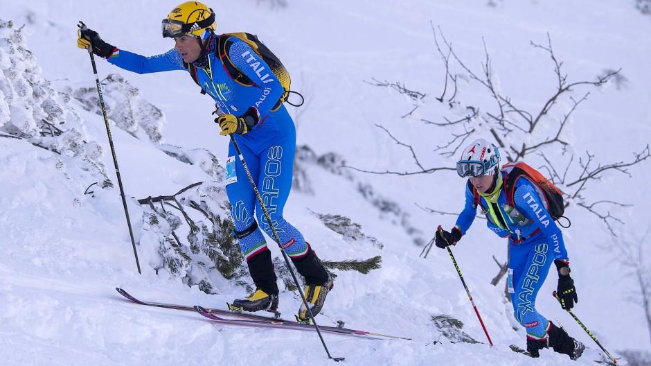 Laufen bis an den Rand der Erschöpfung: Die Italiener Michele Boscacci (links) und Davide Maguini geben in Berchtesgaden das Tempo vor.