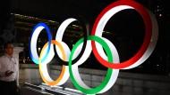 Eine Frage der Bewerbung: Leuchten die Olympischen Ringe wie hier in Tokio irgendwann auch wieder in Deutschland?
