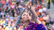 Olympiasieger Thomas Röhler: im vergangenen Jahr gewann er in Doha mit 93,90 Metern
