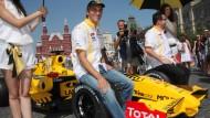 Plötzlich scheint für Vitaly Petrow wieder die Renault-Sonne: an seiner Fahrleistung kann es nicht liegen