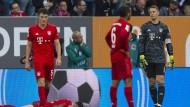Ohne Worte: Die Bayern um Manuel Neuer sind enttäuscht.