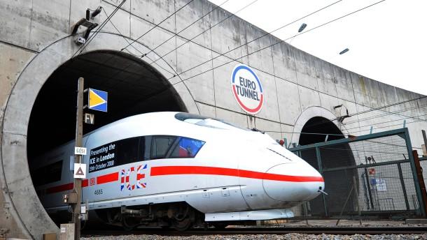 Die reguläre ICE-Bahnverbindung nach London wird es wohl vor 2015 nicht geben