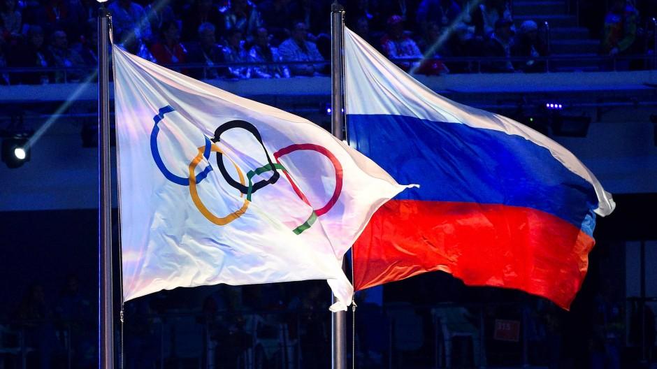 Bei den nächsten beiden Olympischen Spielen wird die russische Fahne nicht zu sehen sein.