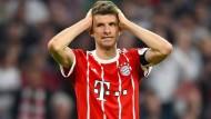 Glücklos gegen Real Madrid: Münchens Thomas Müller.
