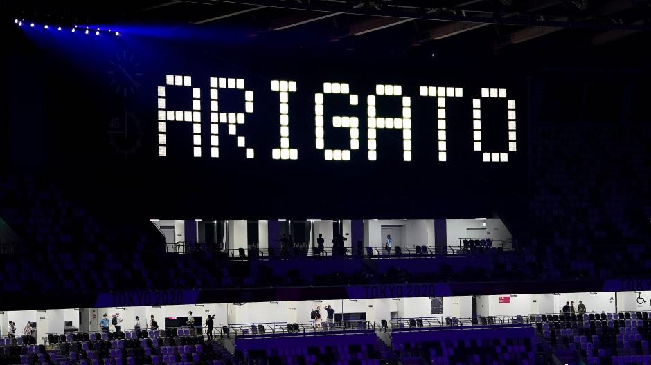 Arigato: Vielen Dank, doch ist das auch die öffentliche Wahrnehmung nach Olympia?