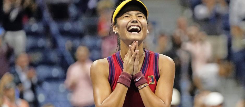 Wer kann diesem ansteckenden jugendlichen Lachen widerstehen? Emma Raducanu begeistert bei den US Open