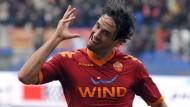 Rätselhafte Jubelform als Standardsituation des Profifußballs: Der Ohrschrauber von Luca Toni