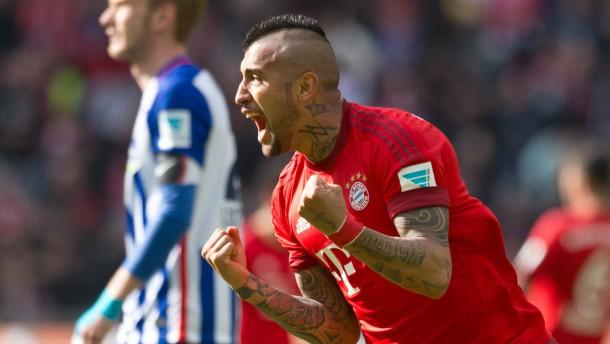 Vidals Kracher bringt die Bayern auf Kurs