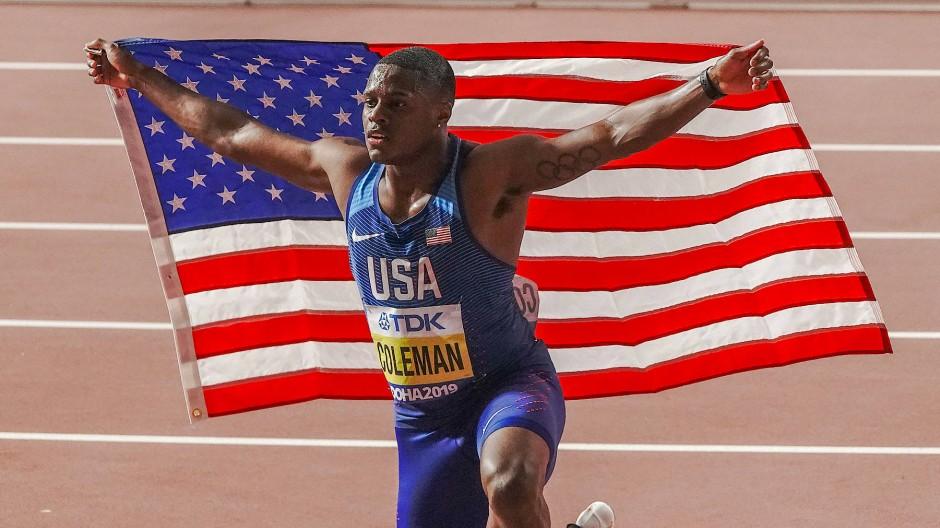 Zu viele Tests verpasst: Sprint-Weltmeister Coleman
