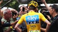 Im Blickpunkt: Die Tour 2012, die der Brite Bradley Wiggins gewann, soll laut Veranstalter dreieinhalb Milliarden Menschen erreicht haben
