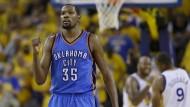 Kevin Durant hat bei den Golden State Warriors den Joker gezogen: 54 Millionen Dollar Gehalt für zwei Jahre und große Titelchancen sind ihm sicher.