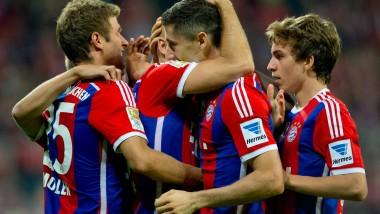 Münchner Jubel: Die Bayern siegen mit Mühe gegen Wolfsburg