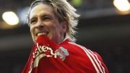 So zeigt sich Erfolgshunger: Fernando Torres schoss das 1:0 für Liverpool gegen United