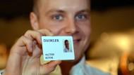 Ein neuer Mitarbeiter bei Daimler, Sparte Motorsport: Valtteri Bottas.