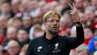 Zwei verlorene Punkte: Liverpools Trainer Jürgen Klopp ist nicht bester Laune.