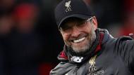 Erster in England: Doch auf Jürgen Klopp wartet nun die Champions League.
