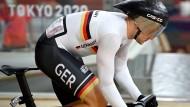 die deutschen Bahnrad-Fahrer um Maximilian Levy