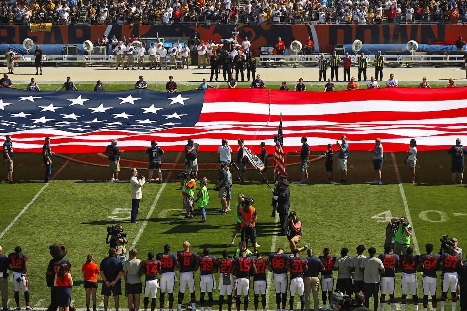 Vor jedem Spiel in der NFL wird die amerikanische Hymne gespielt.