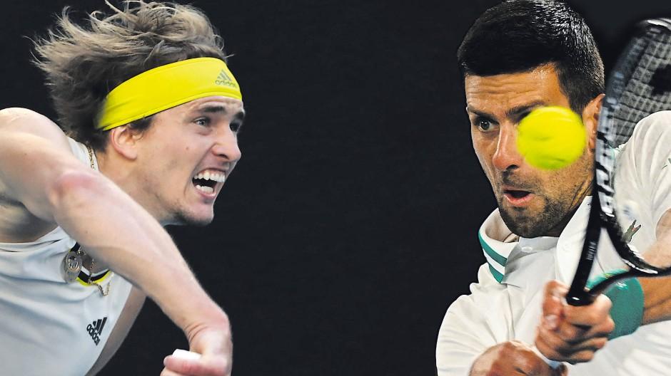 Alexander Zverev (links) hat Novak Djokovic in sieben Matches zweimal besiegt, zuletzt im November 2018.