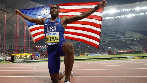 Sprint-Weltmeister Coleman für zwei Jahre gesperrt