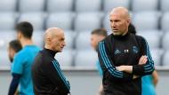 Klare Ansage: Zinedine Zidane (rechts) will Real mit offenem Visier ins Duell mit Bayern schicken