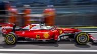 Läuft nicht, wie er soll: Sebastian Vettels Ferrari