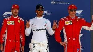 Hamilton Erster – Schmerzen bei Vettel