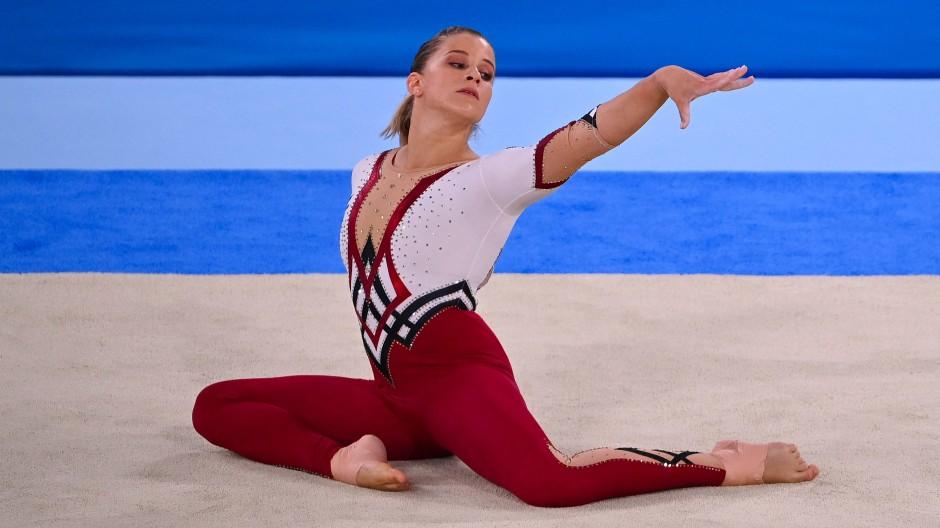 Lange Hose auf der großen Bühne: Elisabeth Seitz bei Olympia