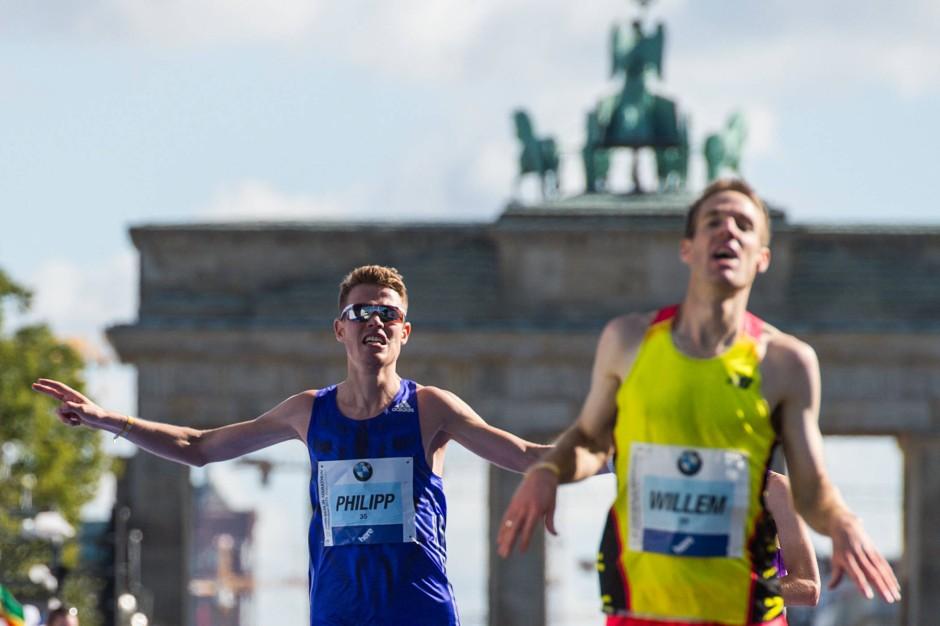 Bester Deutscher, aber nicht glücklich: Philipp Pflieger (links)