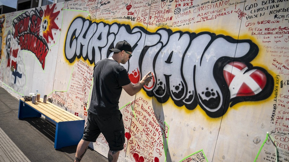 Kopenhagener Graffito für Eriksen